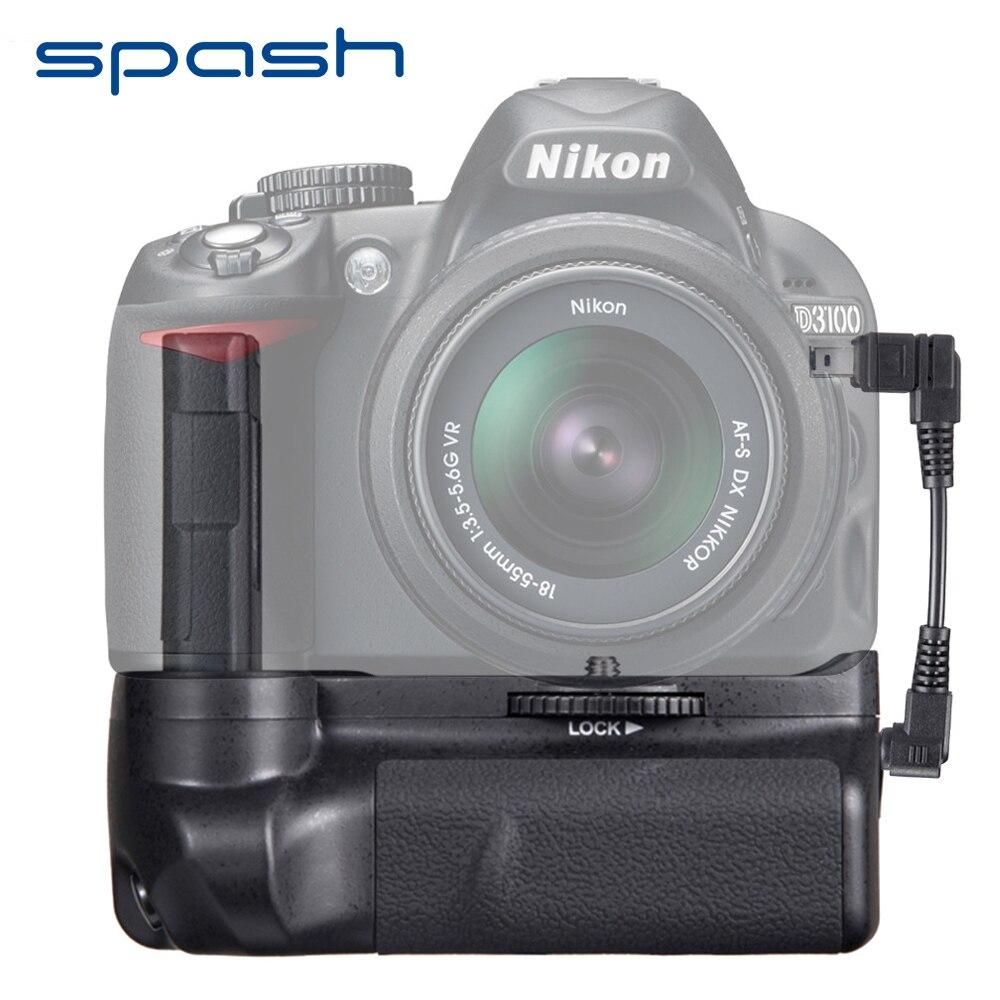 Spash pionowy uchwyt baterii do aparatów Nikon D3300 D3200 D3100 DSLR wielozadaniowy uchwyt do baterii uchwyt do pracy z EN-EL14