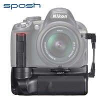 Empuñadura Vertical de batería spash para Nikon D3300 D3200 D3100 DSLR cámaras Multi-Power soporte para agarre trabajo con EN-EL14