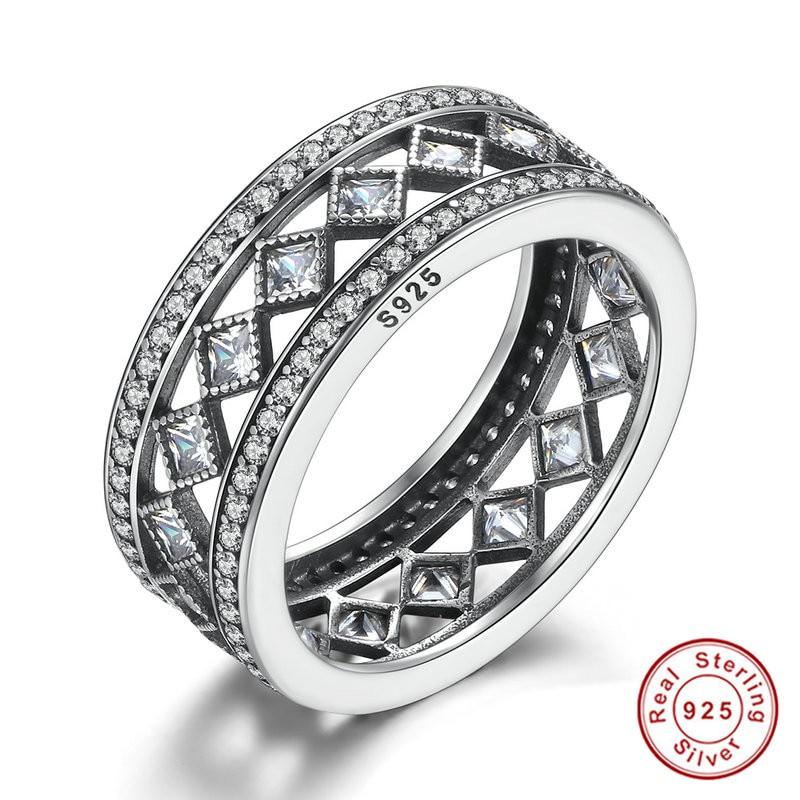 bd447490c58c Las mujeres de moda de lujo S925 joyería renaissanc estilo 925 retro anillo