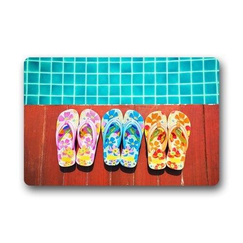 Clean Top Fabric & Non-Slip Rubber Backing Durable Indoor / Outdoor Doormat Door Mats