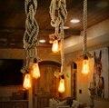 Vintage cuerda Lámparas colgantes lámpara loft Creative personalidad industrial lámpara Edison estilo americano para la decoración de la Sala