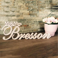 FREE PP Wedding Name Sign Mr and Mrs Sign Custom Name sign Mr & Mrs Freestanding Name Sign Sweetheart Table Personal