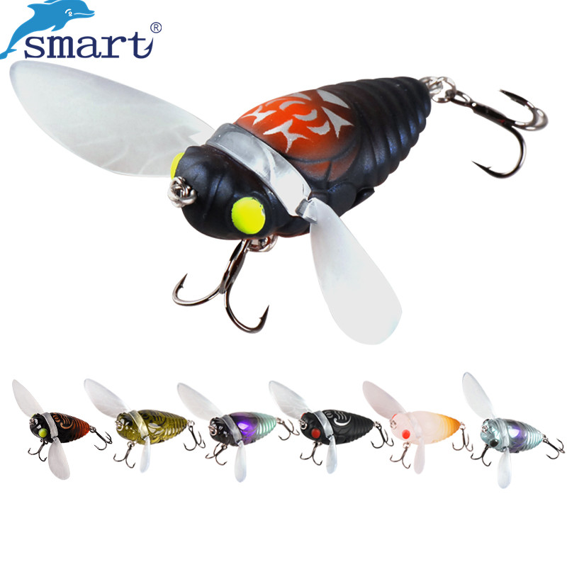 New Cicada Fishing Lures 40mm 6.1g VMC Hook Hard Lure Isca Artificial Bait Para Pesca Leurre Souple Peche Japan Fishing Wobblers wldslure 1pc 54g minnow sea fishing crankbait bass hard bait tuna lures wobbler trolling lure treble hook