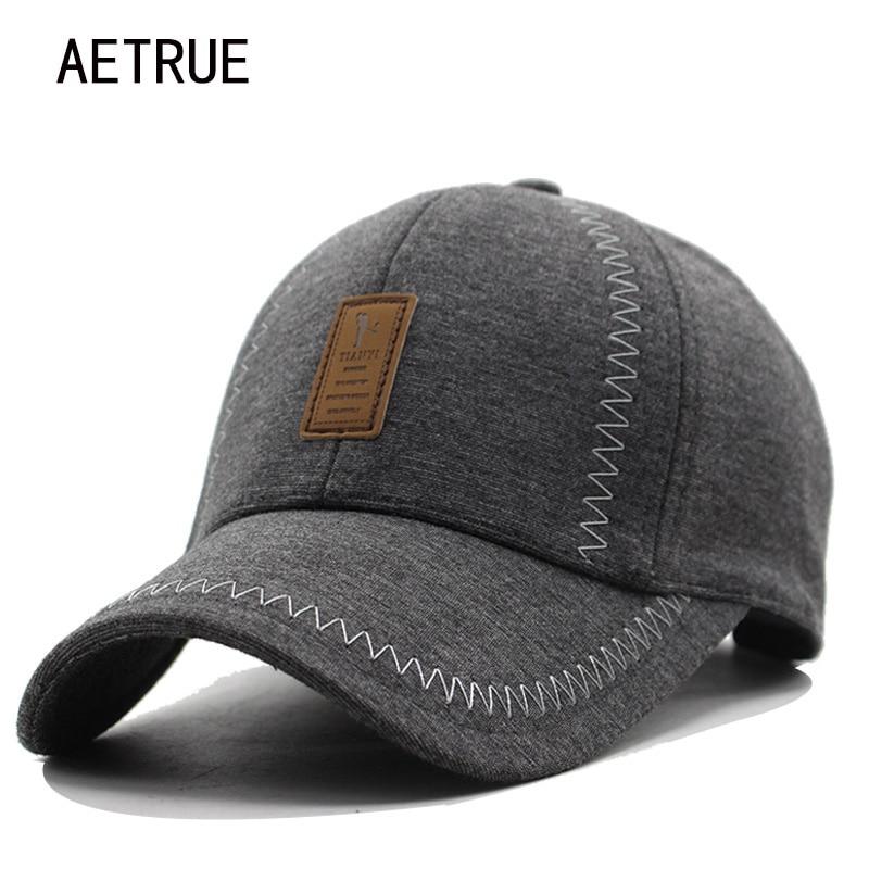 Prix pour Hommes casquette de baseball femmes snapback casquette casquettes chapeaux pour hommes chaud Os Épaissi Marque Plaine Nouveau Coton D'hiver Casquette de baseball 2017