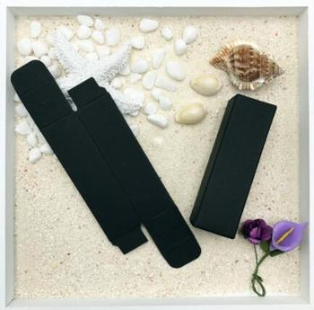 2.6*2.6*8.7CM Black Paper Lipstick Cosmetic Packing Box Essence Bottle Packaging Boxes 200pcs\lot Free shipping