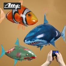 ATTOP requin jouet télécommande Drone poisson volant Clown Nemo poissons ballons radiocommandé animaux jouets Drone meilleur enfant jouet cadeau
