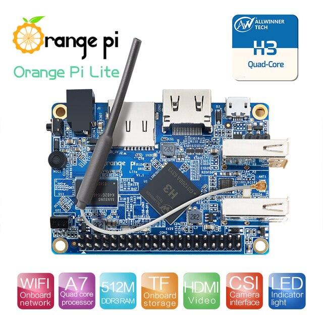 Arancione Pi Lite 512MB DDR3 con Quad Core 1.2GHz antenna WiFi di Sostegno del Android, Ubuntu Immagine