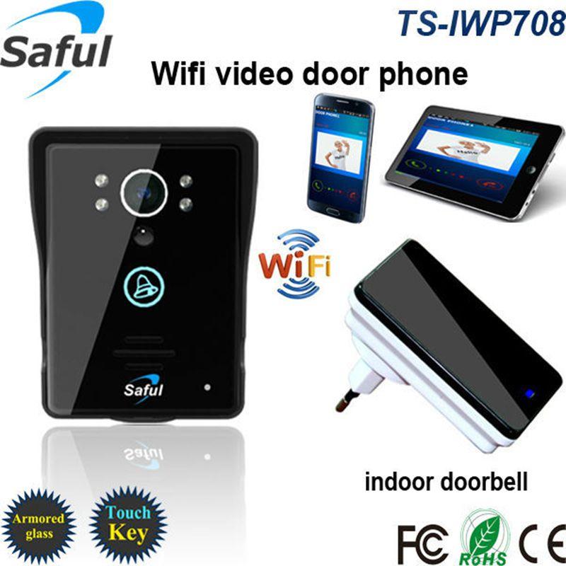 2016 Hot HD 720P Wifi Doorbell Camera Wireless Video Intercom Phone Control IP Door Phone Wireless Door bell IOS Android