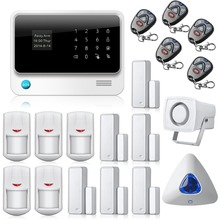Etiger  G90B Touch Screen Keypad LCD Display Wifi GSM for IOS Android APP Wireless Home Security Alarm System with Wifi