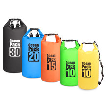 10L / 15L / 20L / 30L Outdoor Diving Bags Waterproof Dry Backpack Water Floating Bag Roll Top Sack for Kayaking Rafting Boating(China)