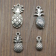 15pcs/lot Pineapple Charms Pineapple Pendants Jewelry Making Pineapple Charms For Bracelet Making Antique Silver Color(China)