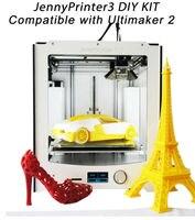Новинка! JennyPrinter3 автоматическое выравнивание 3D принтер DIY KIT идеально совместимы с оригинальной Ultimaker 2 UM2 включены все Запчасти