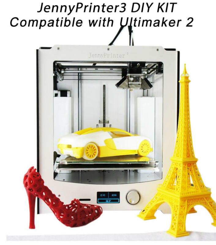Le plus récent! JennyPrinter3 auto nivellement 3D imprimante kit de bricolage parfait Compatible avec Ultimaker d'origine 2 UM2 inclus toutes les pièces