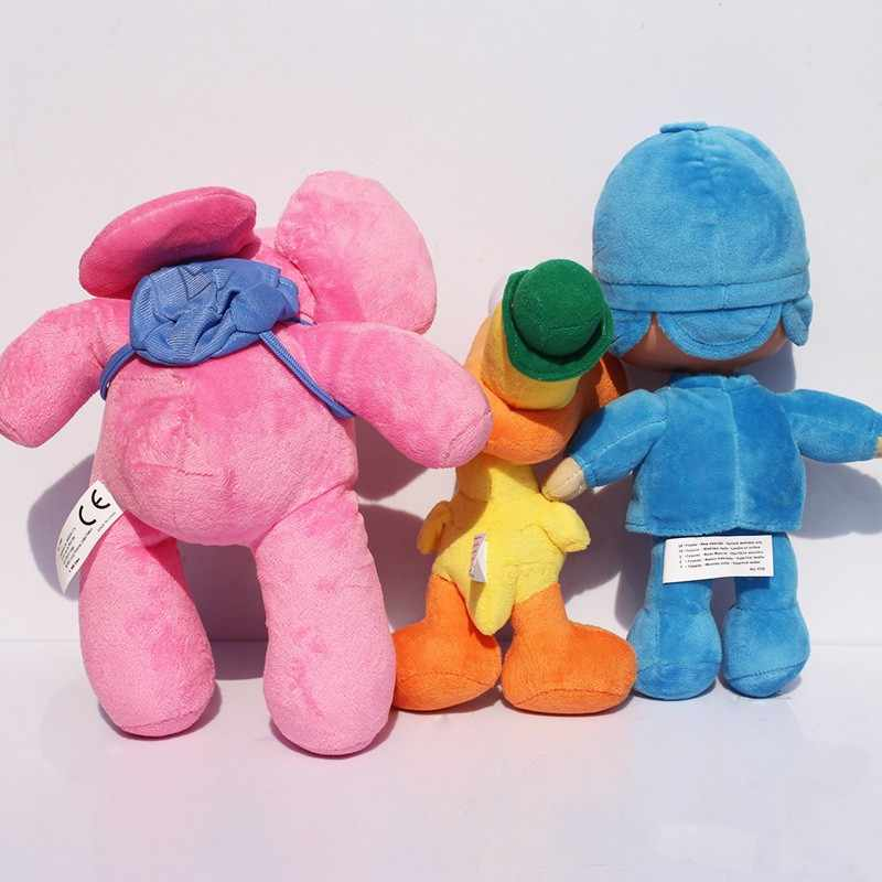 Pocoyo Elly pato Loula Pocoyo Pato Cão Elefante de Pelúcia Recheado de Brinquedos Bom Presente Para As Crianças
