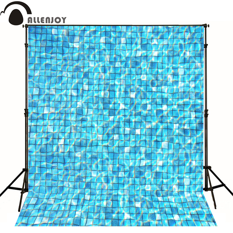 Allenjoy photo background Block blue swimming pool water photography newborn backdrop 8x12ft цены онлайн