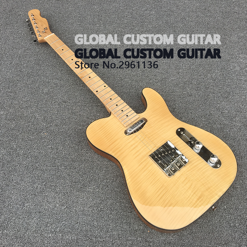 High quality tl guitar Custom Electric Guitar,Elm body, 6 Strings Guitars,Real photos,free shipping high quality tl guitar map panel transparent brown custom electric guitar 6 strings guitars real photos free shipping