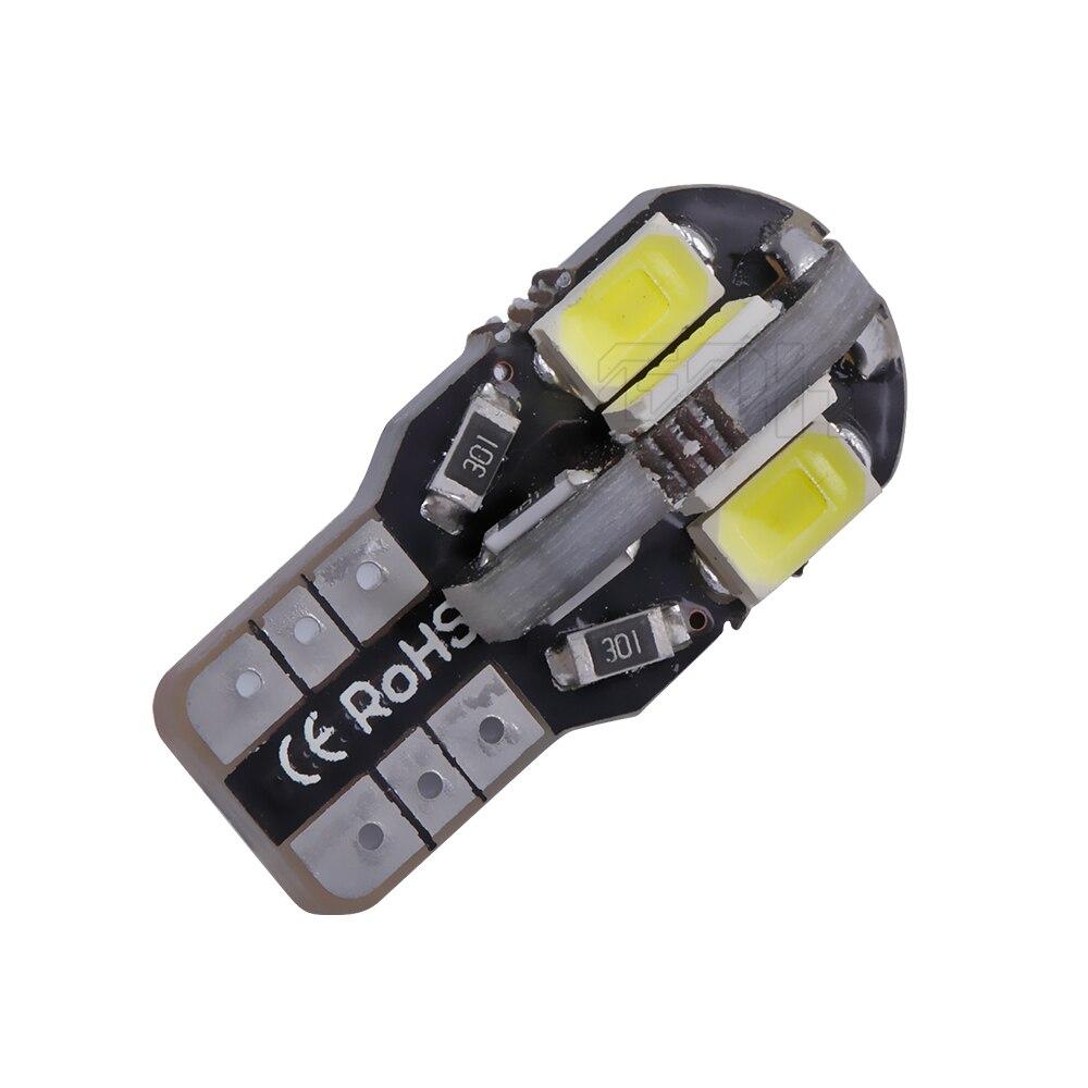Лидер продаж Внешнее освещение 100 x ошибок T10 led Canbus Led w5w 194 5730 5630 t10 8smd свет Canbus лампа автомобиля