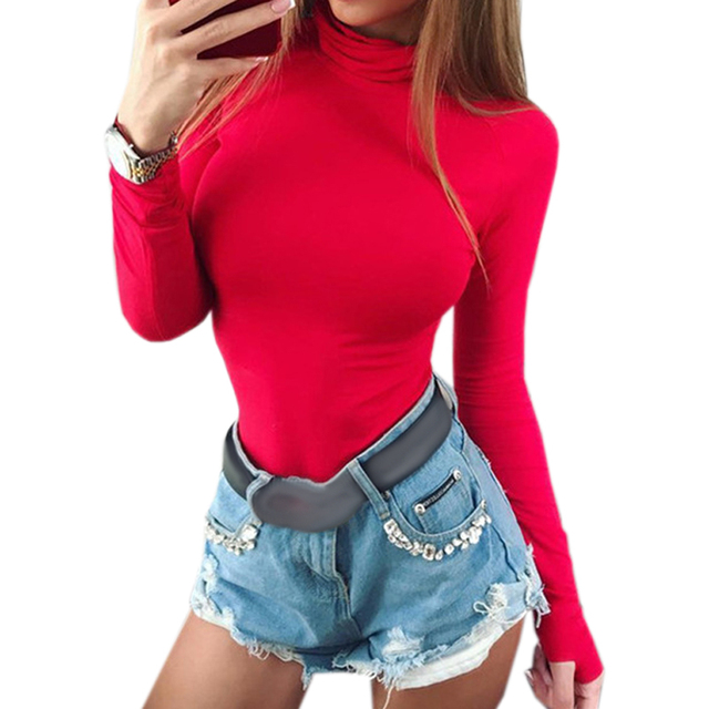 Female Body Autumn Top Bodycon Bodysuit Feminino Mujer Skinny Solid Sexy  Club Stretchy Rompers Winter Jumpsuit 0d206812d