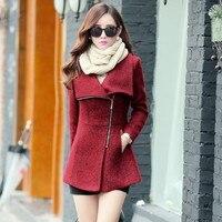 New 2017 Autumn Winter Women S Temperament Woolen Jackets Coats Female Casual Clothing Fashion Women Slim