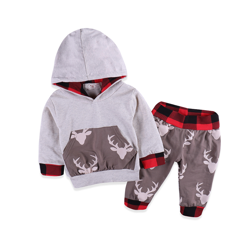 2018 Spring Autumn Baby Clothing Kids Clothes Boy Girls Tops Hoodies Pants Home Outfits 2Pcs Casual Sport Baby Set Clothes