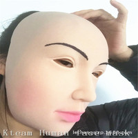 Top Grade Female Mask Latex Silicone Ex Machina Realistic Human Skin Masks Halloween Dance Masquerade Party