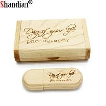 SHANDIAN Wooden usb pen drive 8GB 16GB Flash Drive Memory Stick