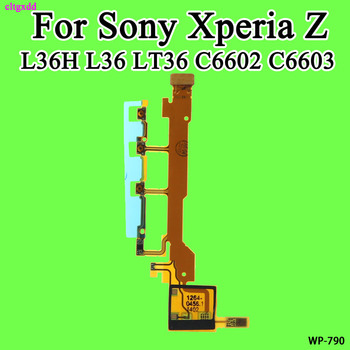 cltgxdd For Sony Xperia Z L36H L36 LT36 C6602 C6603 Power Button Connector Flex Cable With Microphone Ribbon image