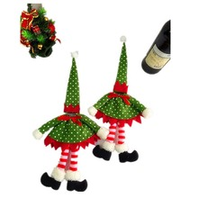 2016 Hot Sale 50CM Wine Bottle Bag Christmas Decorations Funny Lovely Skirt Bags Champagne Set Of Products Decoration Gifts