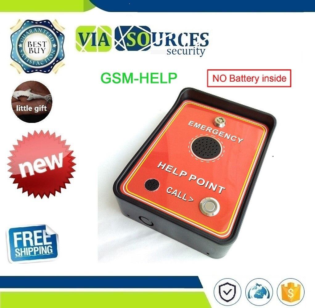 Interphone Audio GSM pour aide au service, aide d'urgence, aide au taxi, entrée double alarme et batterie de secours pour alarme de mise hors tension