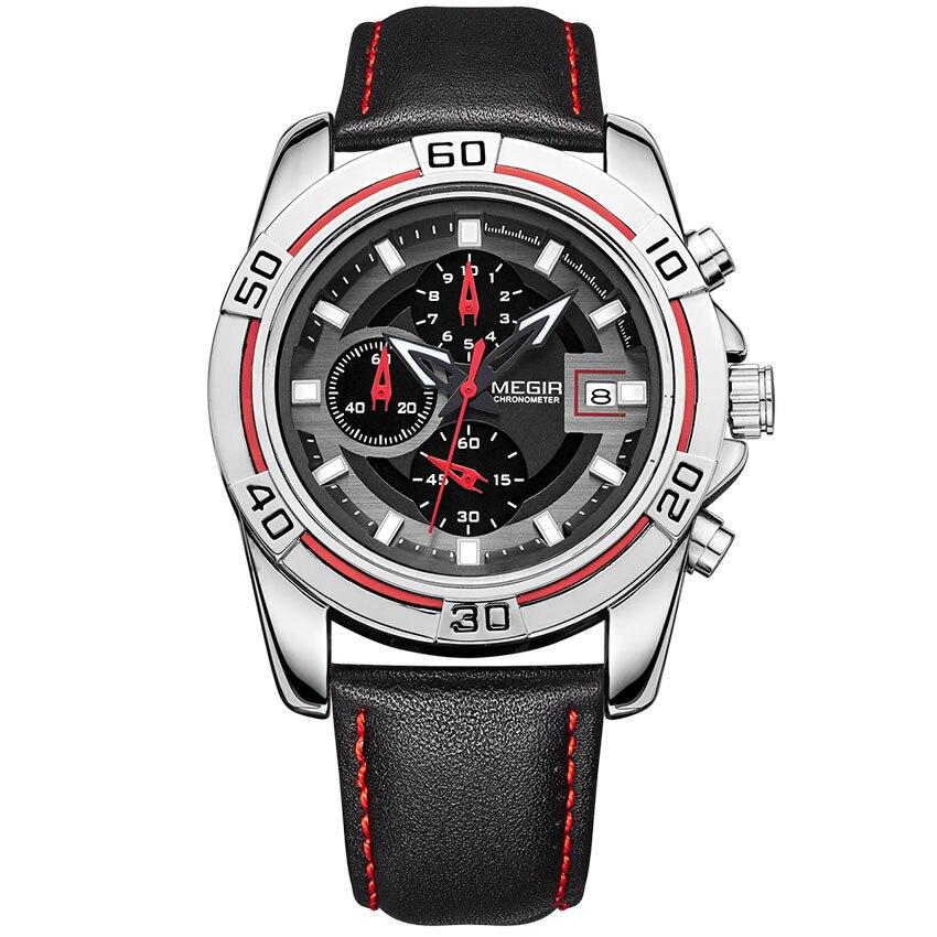 Megir Watches Chronograph Military Watch Men Waterproof Clock Military Watch Men Army Waterproof Sport For Men Watches Men Sport цена и фото