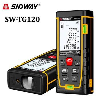 Sndway Jarak Laser Meter 40 M 50 M 70 M 100 M 120 M Laser Range Finder Trena Pita Pengukur penguasa Laser Jarak Pengukur Meter Alat