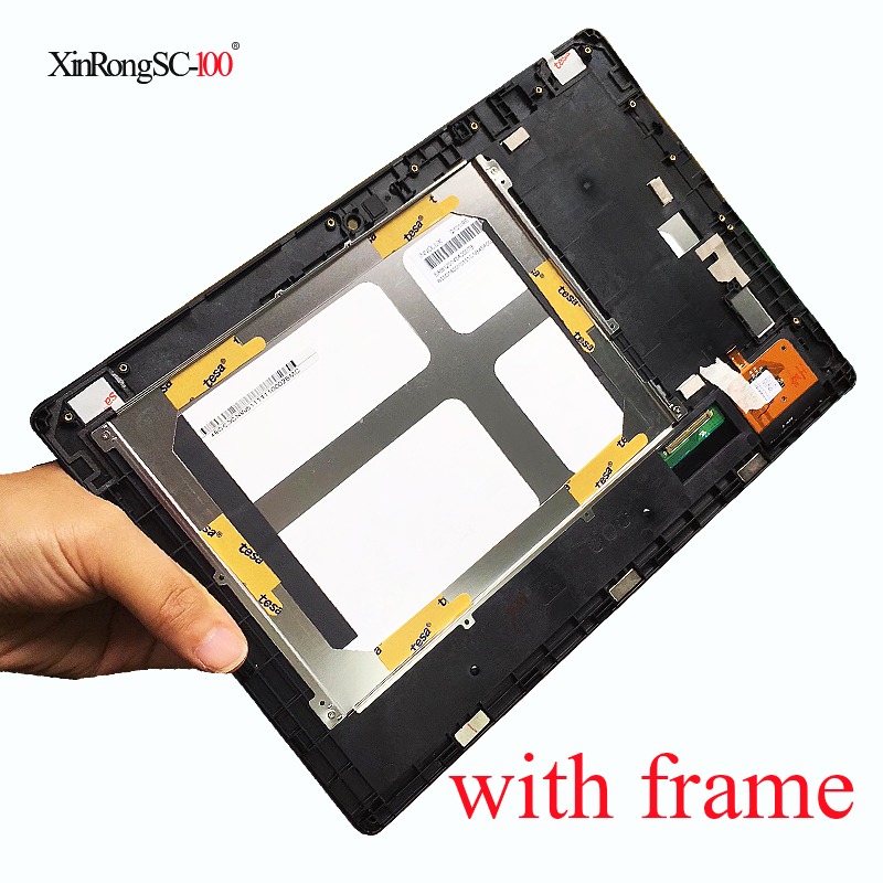 New 10.1'' inch For Lenovo IdeaTab S6000 Full LCD Display Panel Monitor with Touch Screen Digitizer Sensor Glass Assembly +Frame