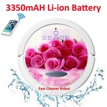 Роза Цвет WI-FI смартфон приложение Управление новейшие ближайшие сухой и влажной робот пылесос для дома QQ6 с водяным баком