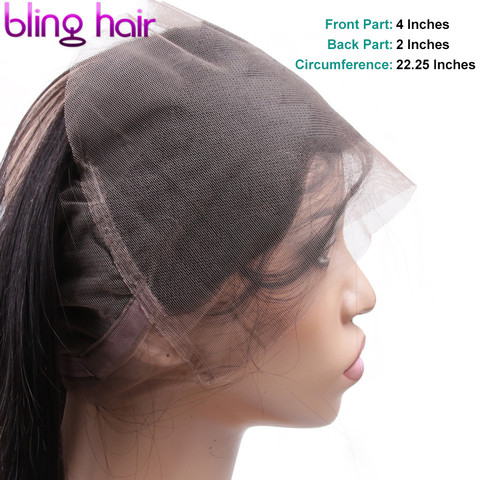 Bling Hair Brazilian Body Wave Closure 360 Lace Frontal With Baby Hair Free Part 100% Remy Human Hair Closure Natural Color Multan