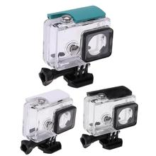 цена на Camera Cases Underwater 45m Waterproof Protective Housing Case Transparent Shockproof Diving Box for Xiaomi Yi 1 Sports Camera