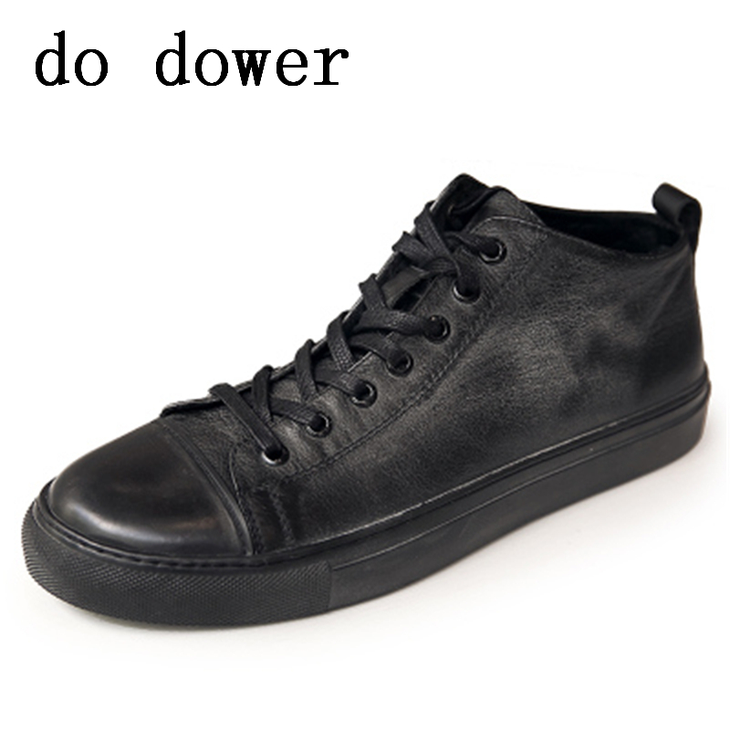 New Men Casual Shoes Luxury Trainers Summer Male Young Genuine Leather Shoes Lace-up Flats Brand Spring Black Shoes 2017 new spring imported leather men s shoes white eather shoes breathable sneaker fashion men casual shoes