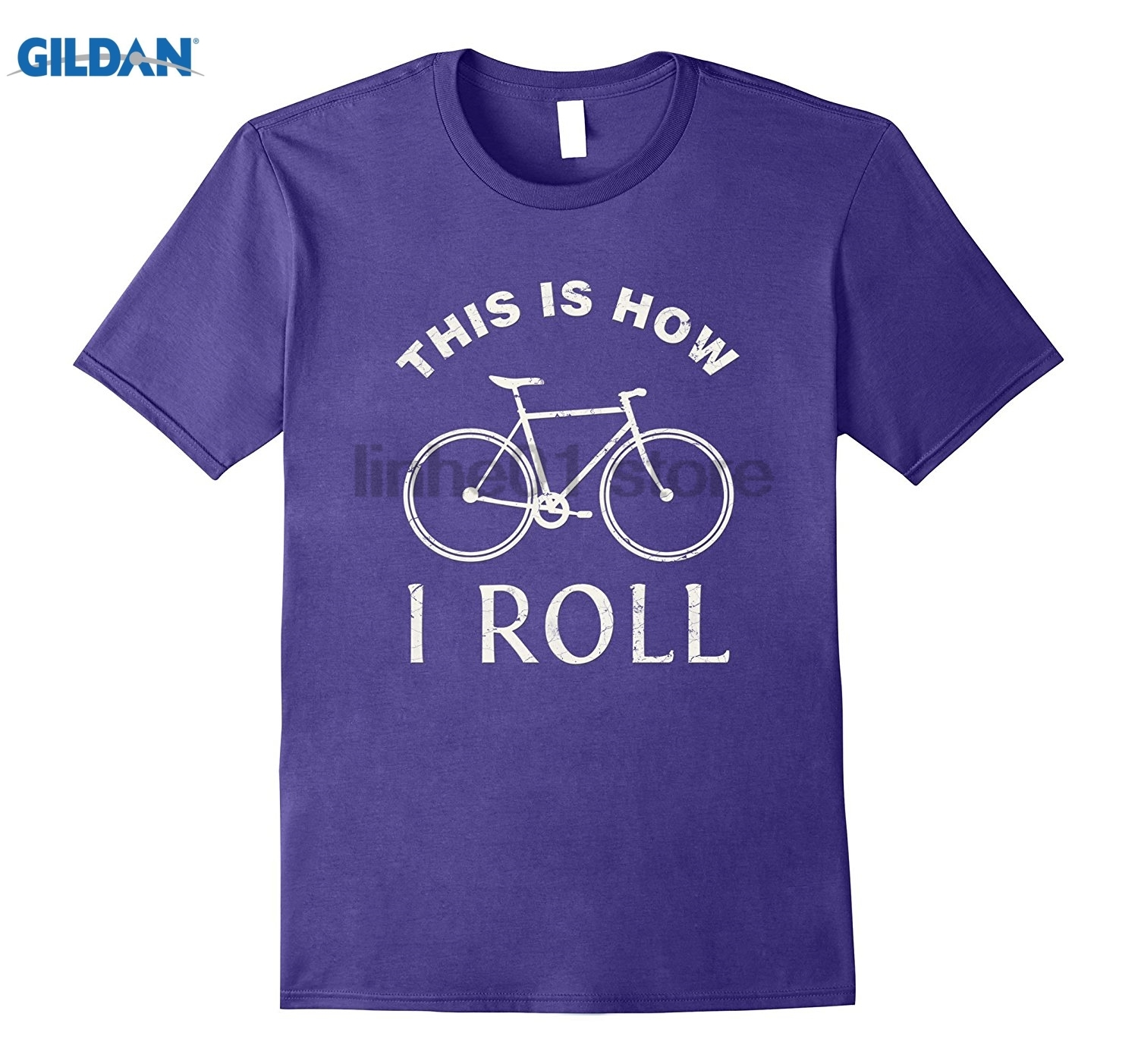 GILDAN This is How I Roll Bicycle, I Love My Trendy T-Shirt glasses Womens T-shirt ...