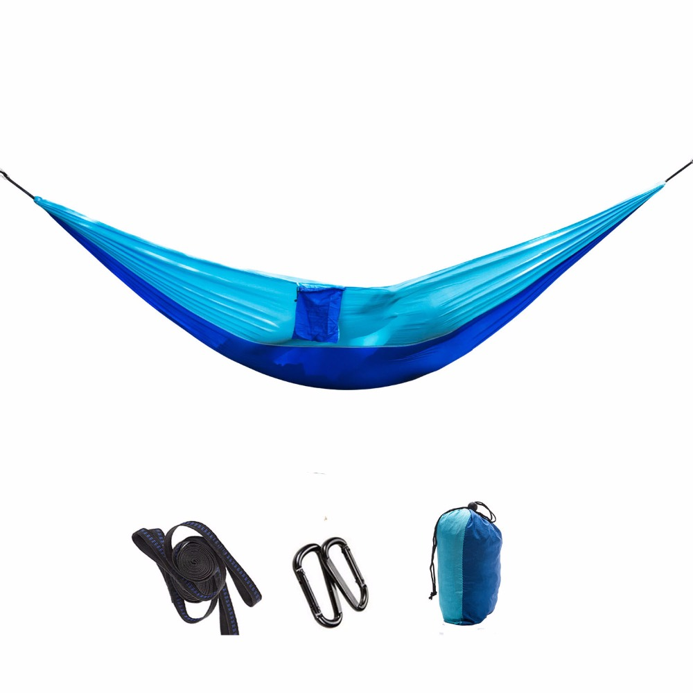 High Strength Outdoor Hammock Tree Portable Parachute Sleeping Swings Backpacking Hiking Woven Camping Furniture travel swing outdoor parachute hammock portable hammocks travel leisure garden swings hiking lightweight nylon camping hammock beds