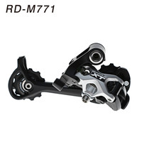 SHIMANO DEORE XT M771 Silver 9S 27S Speed MTB Bicycle Rear Derailleur Part Long Cage