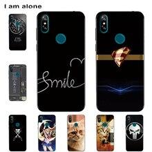 I am alone fundas de teléfono para Doogee Y8 Y8C 2019 6,1 pulgadas TPU suave moda móvil dibujo impreso para Doogee Y8 bolsas envío gratis