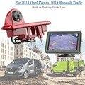 O Envio gratuito de 4.3 Polegada Monitor Renault Trafic Vivaro 2014 CMOS 6 pcs IR LED Luz de Freio Kits de Câmera de Estacionamento Com Guia linha