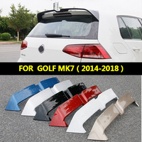 High Quality For Volkswagen GOLF 7 MK7 Spoiler mk7.5 ADG ABS Material Car Rear Wing Primer Color Rear Spoiler 2014 2018
