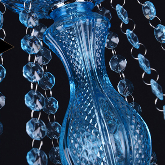 Led e14 Europäischen Legierung Blauen Kristall kronleuchter ...