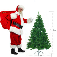 Merry Christmas Tree Deluxe Green Artificial Christmas Trees With Metal PVC Stand Xmas Decor Christmas Bonsai