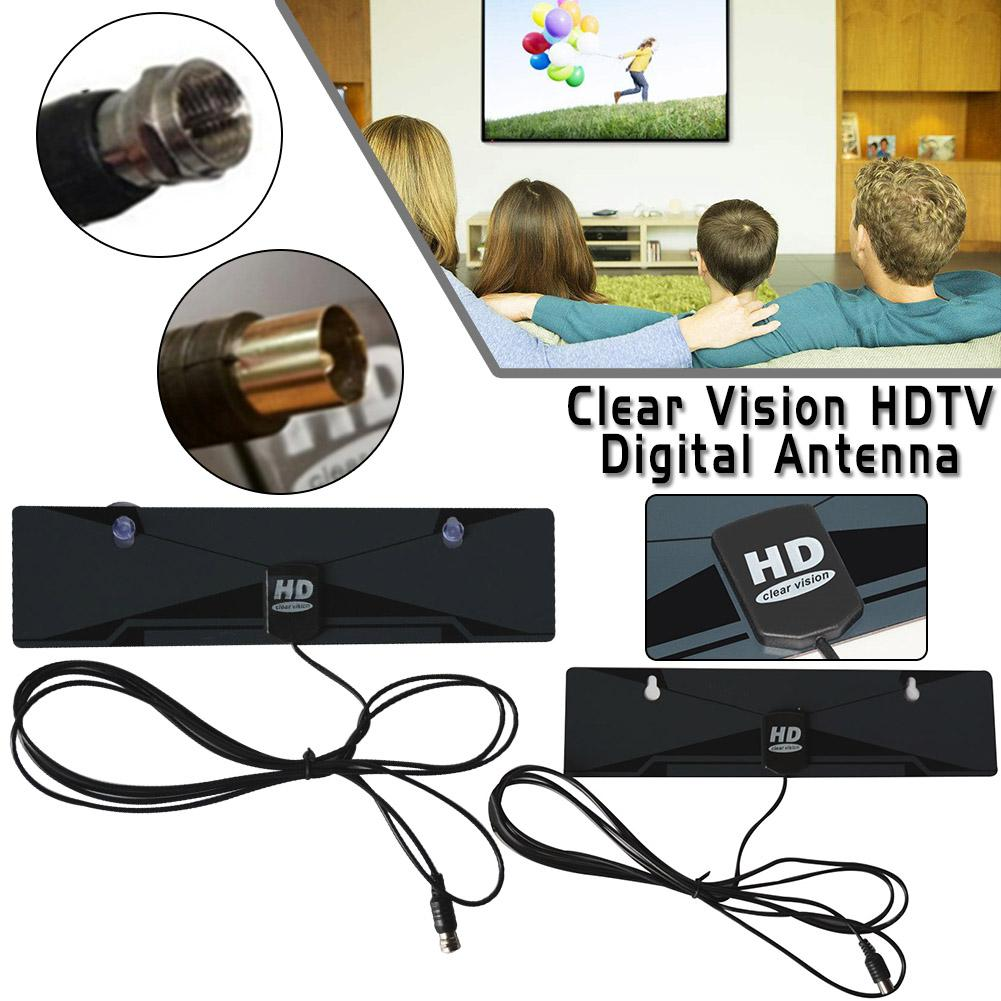 Free TV Satellite Antenna HD 1080P Digital View Clear Vision TV Indoor Home Antenna 12V HDTV 50 Miles Range VHF UHF HDTV Antenna
