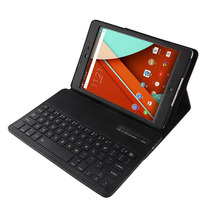For google Nexus 9 case, stand PU leather Removable Wireless Bluetooth Keyboard tablet Cases for nexus 9 cover