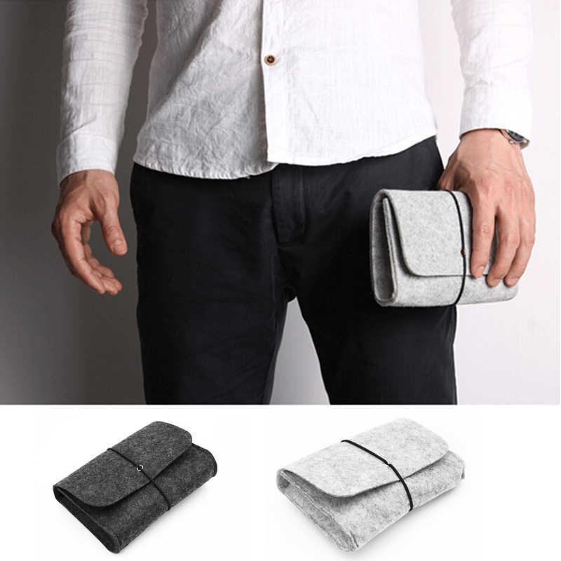 Sofe фетр, сумка power Bank сумка для хранения мини фетр, сумка для передачи данных кабель мышь дорожный Органайзер электронные гаджеты Organizador