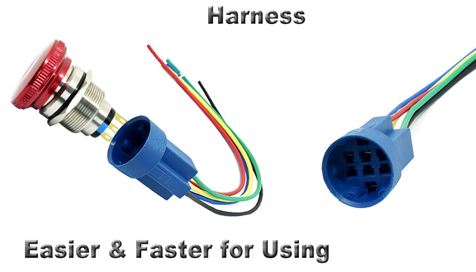 harness connector for emergency stop switch on off