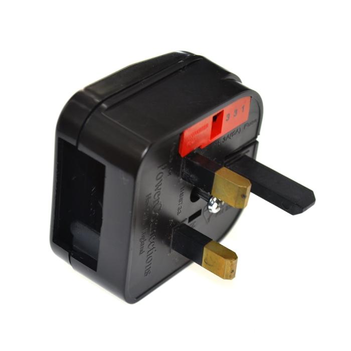 Free Shipping 2ps EU to UK Adapter,5A EU to UK Plug,BS Converter Travel Adaptors UK converter