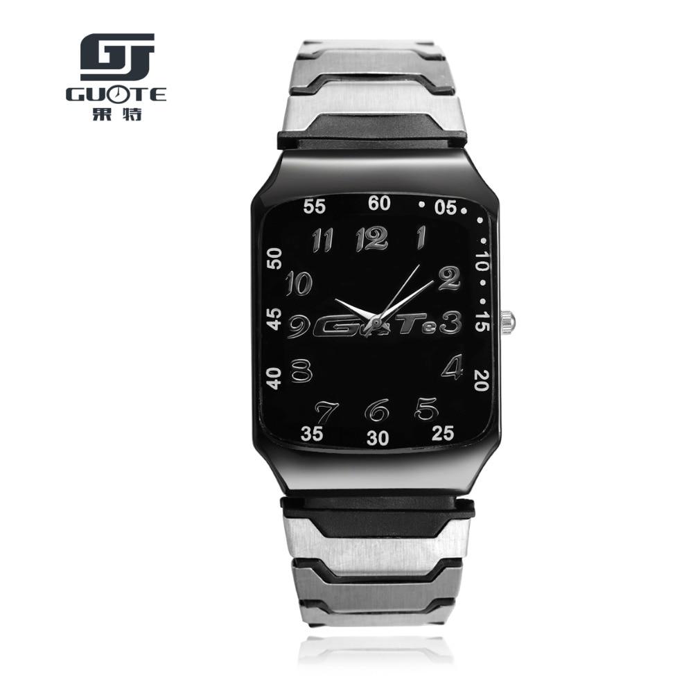 New Fashion Luxury Brand Men Stainless Steel Strap Rectangle Quartz Watch Men Business Dress Watches Sports Watch Women Watches